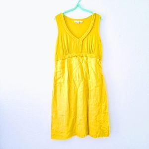 Boden Linen Yellow Sleeveless Sun Dress